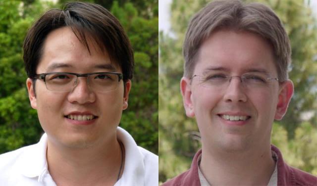 (l-r) Ph.D. student Jian Xu and CSE Prof. Steven Swanson